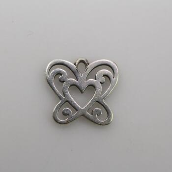 "James Avery Sterling Silver ""Open Butterfly Heart"" Charm"