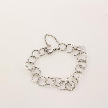 James Avery Sterling Silver Quatrefoil Twisted Wire Charm Bracelet
