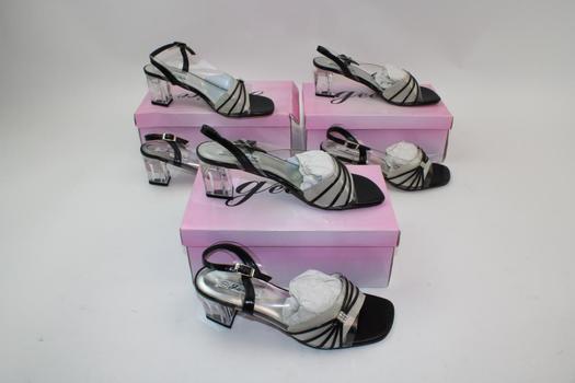 Janice Women's Short Heeled Shoes; 3 Pieces