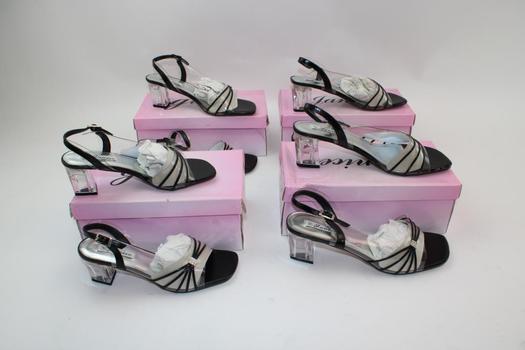Janice Women's Short Heeled Shoes; 4 Pieces