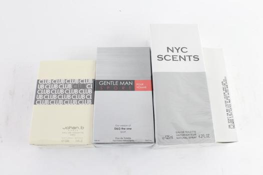 Johan B And Other Men's Fragrance Sprays, 4 Pieces