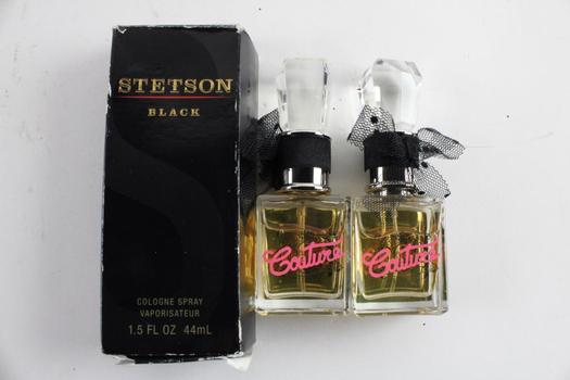 Juicy Couture And Stetson Fragrances, 3 Pieces