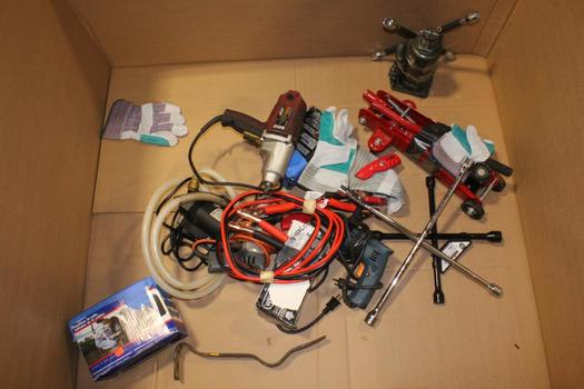 Jumper Cables, Lugnut Wrench, And More, 5+ Pieces