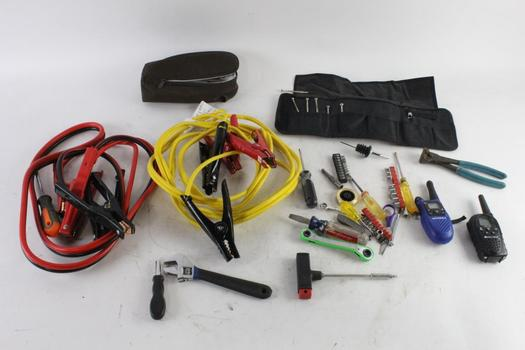 Jumper Cables, Screwdrivers And More, 15+ Pieces