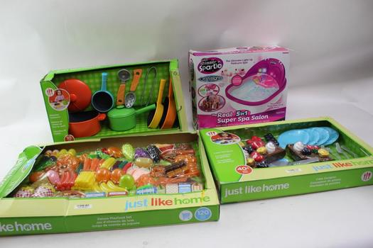 Just Like Home Toy Sets, Crazart Spa Salon Toy, 4 Pieces