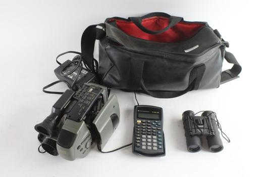 JVC Compact VHS Camcorder And More, 3 Pieces