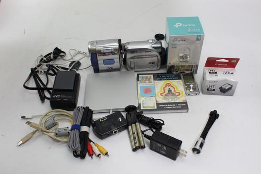 Jvc Video Cameras, Apple Dvd Drive, + More Bulk Lot 10+ Pieces