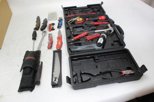 Kershaw Folding Knife, Durabuilt Tool Set And More Tools, 10+ Pieces