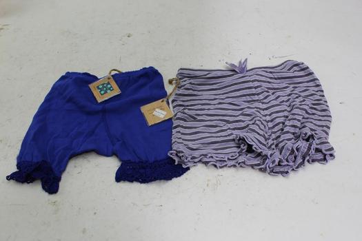 Kickee Pants Girls Shorts, Size 4T, 6-12 Mo, 2 Pieces