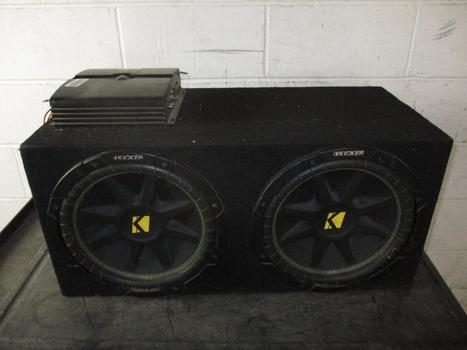 Kicker Car Subwoofer With Element 5 Amplifier