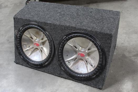 Kicker Cvr Twin Car Speakers And Speakerbox