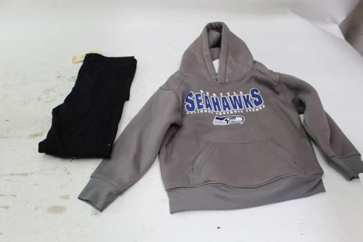 Kid's Nfl Seahawks Jacket & Women's Leggings; 2 Pieces; Size 4t & XS