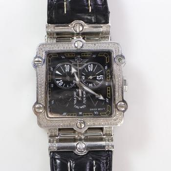 King Master Watch With Diamond Accents