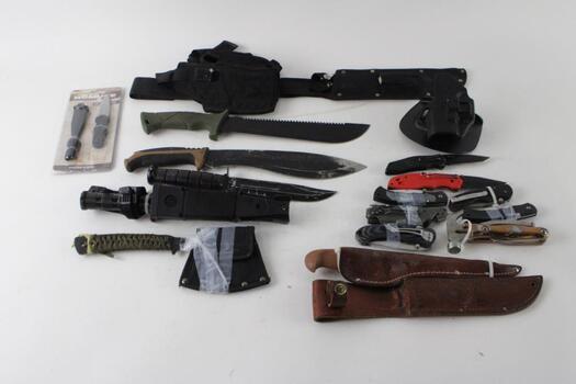 Knives And Cutlass Bulk Lot, 7+ Pieces