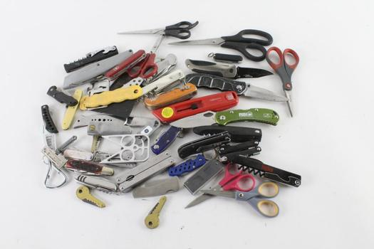 Knives, Multitools, And More, 15+ Pieces