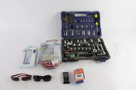Kobalt Ratchet And Socket Set And More, 7 Pieces