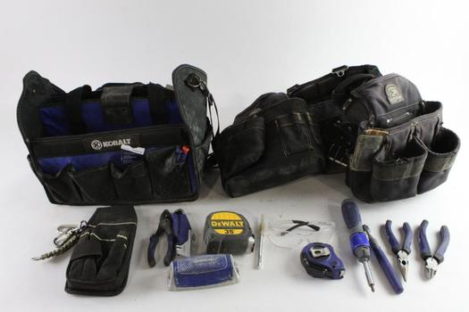 Kobalt Tool Bag With Tools, Gatorback Tool Belt,  2 Pieces