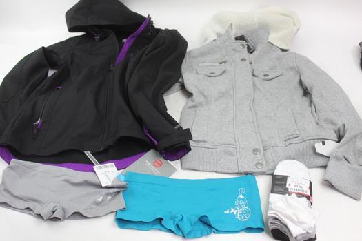 K-Swiss Socks, Free Country Jacket, Miss Lili Sweater, Pucker Up! Panties: 5 Items