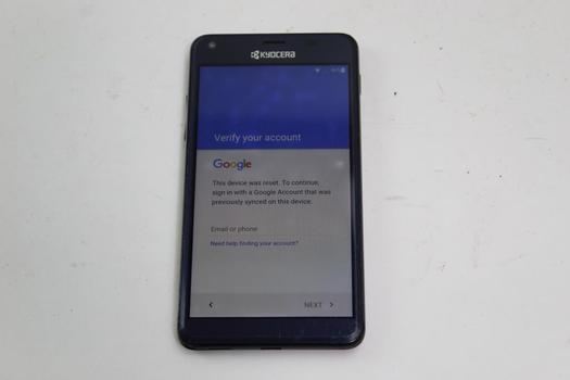 Kyocera Hydro Elite, 16GB, Unknown Carrier, Google Account Locked, Sold For Parts