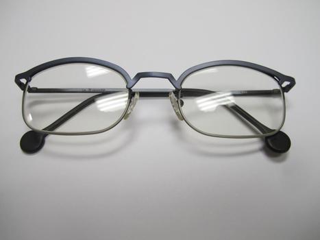 LA Eyeworks Blue Titanium Frame Eyeglasses