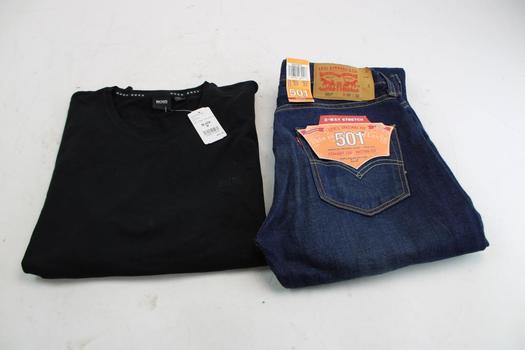 Levi's 501 Pant & Hugo Boss Shirt; 2 Pieces
