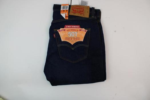 Levis 501 Straight Leg Button Fly Jeans Size W36L34