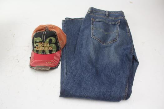 Levi's 527 Bootcut Pant & True Religion Cap; Size 38x32