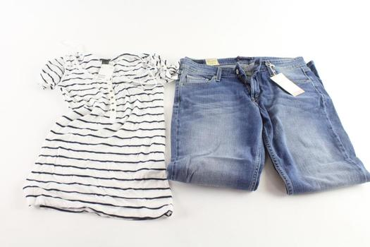 Levi's And H&M Womens Clothing, S And 11S, 2 Pieces