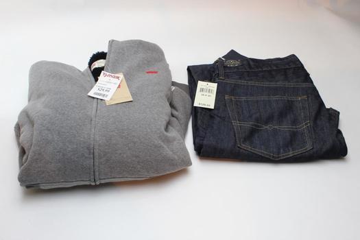 Levis Jacket, Lucky Brand Jeans, Size XL, 38x30, 2 Pieces