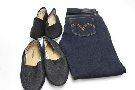 Levis Jeans, Wet Seal Shoes, Size 15, 9, 3  Pieces