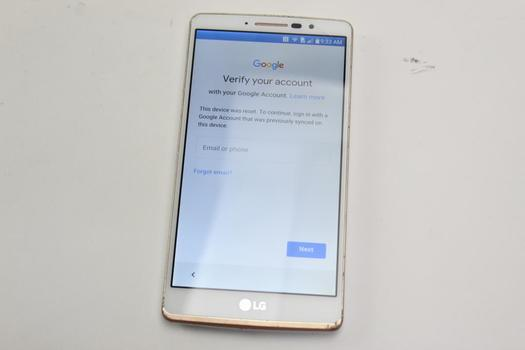 LG G Stylo, 16GB, MetroPCS, Google Account Locked, Sold For Parts