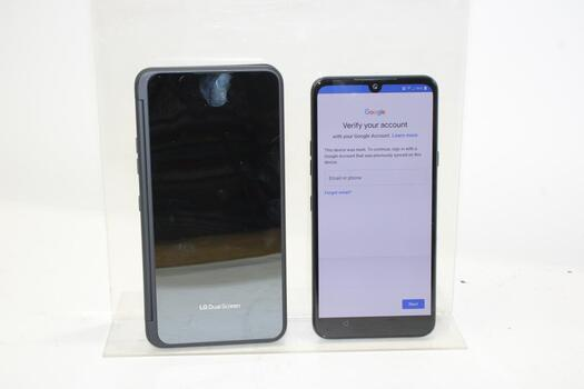 LG G8X ThinkQ, 128GB, Unknown Carrier, Google Account Locked, Sold For Parts