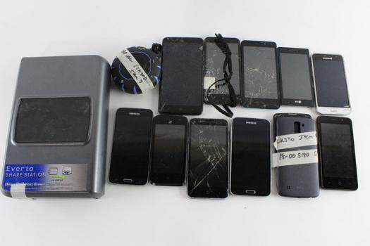 LG & Other Brands Cell Phone Lot, 5+ Pieces, Sold For Parts