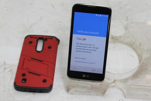 LG Tribute 5, 8GB, Boost Mobile, Google Account Locked, Sold For Parts