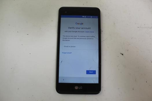 LG X Style, 8GB, TracFone Wireless, Google Account Locked, Sold For Parts