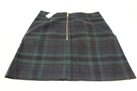 Loft Green Plaid Skirt Size: 6