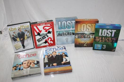 Lost: The Complete First Season DVD Set, The Office Season One, Ocean's 11/12/13 HD-DVD Boxed Set, And More