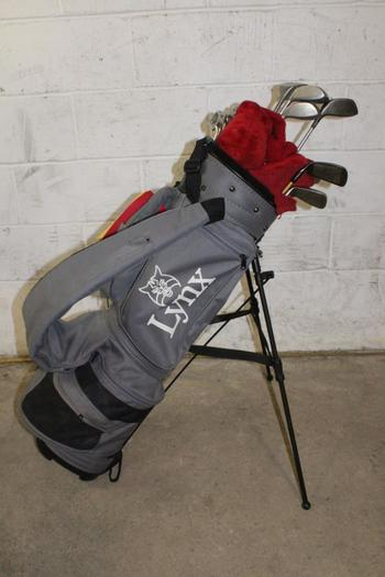 Lynx Bag With Clubs, 14 Pieces