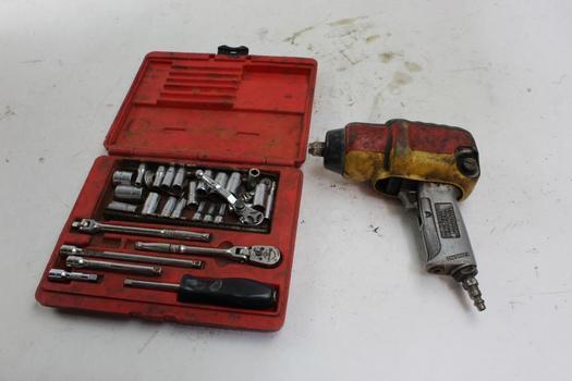 Mac Tools AW434 Air Wrench, Snap On Socket Set