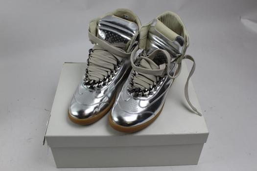 Maison Martin Margiela High Top Metallic Shoes