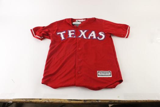 Majestic Texas Rangers Jersey, Size Small
