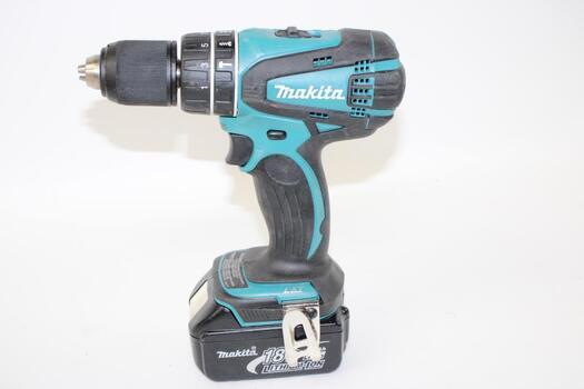 "Makita 1/2"" Chuck LXT Cordless Hammer Drill With Battery"