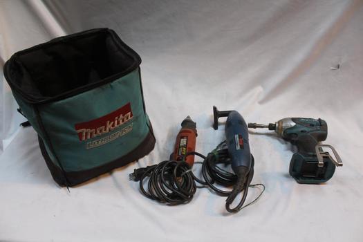 Makita, Black & Decker And More Power Tool Bulk Lot, 3 Pieces