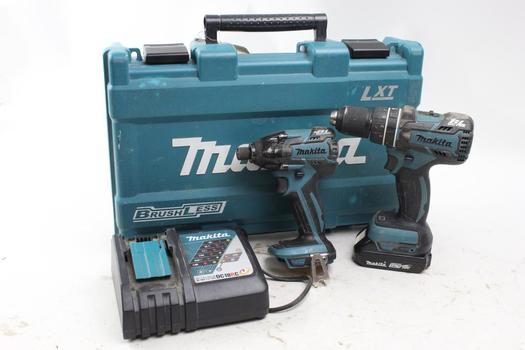 Makita Cordless Drill, Impact Driver, Battery