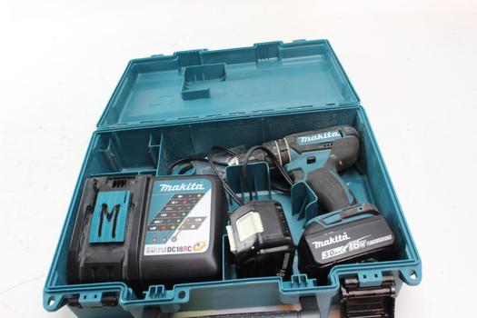 Makita Drill With Battery And Charger