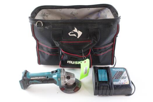 Makita Grinder, Husky Tool Bag And More