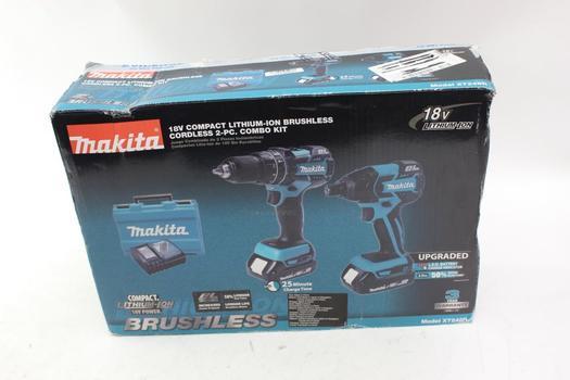 Makita Xt248R Cordless Drill And Impact Driver