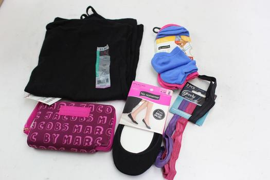 Marc Jacobs Wallet, No Nonsense Women's Socks And More, 5 Pieces