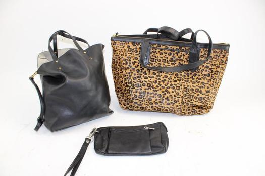 Mark Fran & Fossil Handbags & Le Donne Zip Bag; 3 Pieces
