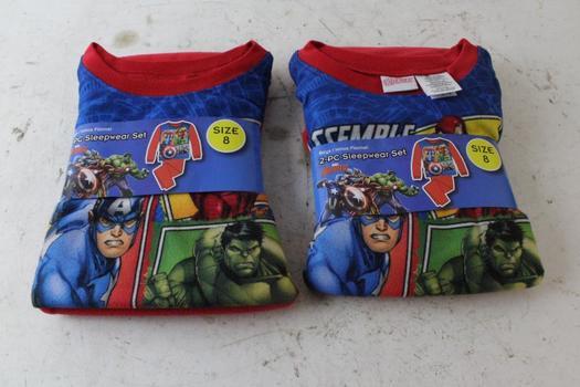 Marvel Avengers Boy's Flannel 2 Piece Sleepwear Set, 2 Pieces